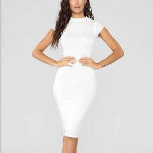 NWT Fashion Nova Jojo Dress White XS